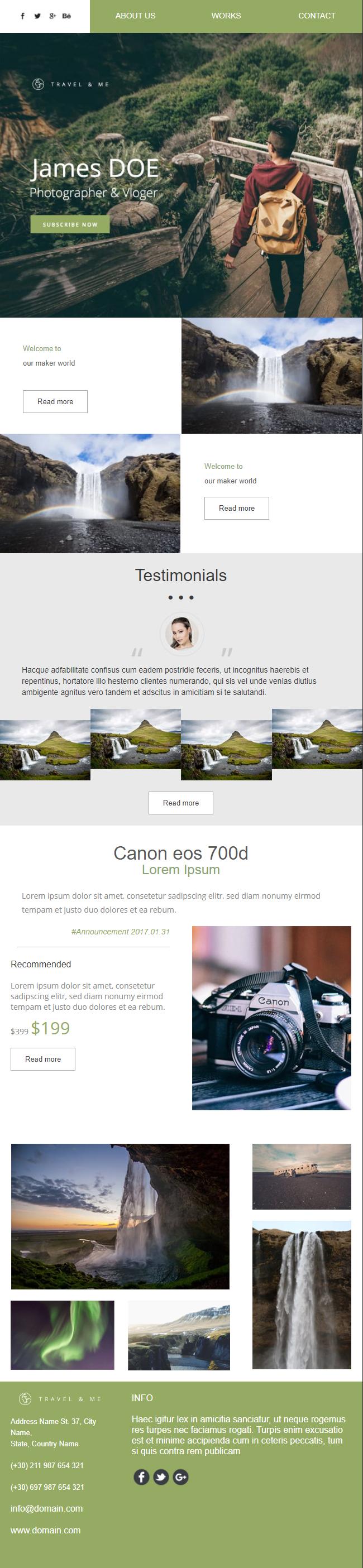 Exemple newsletter Travelandme