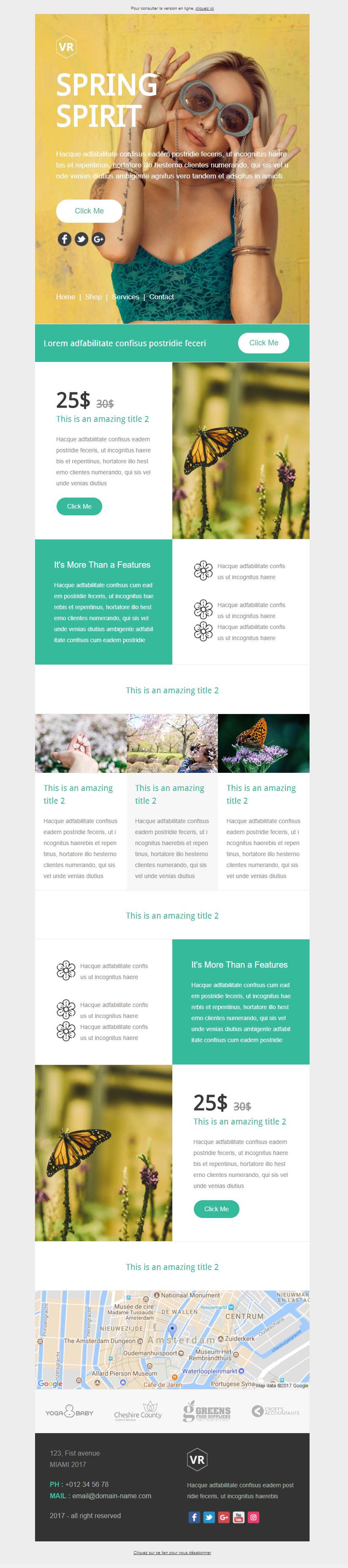 Exemple newsletter VR Spring