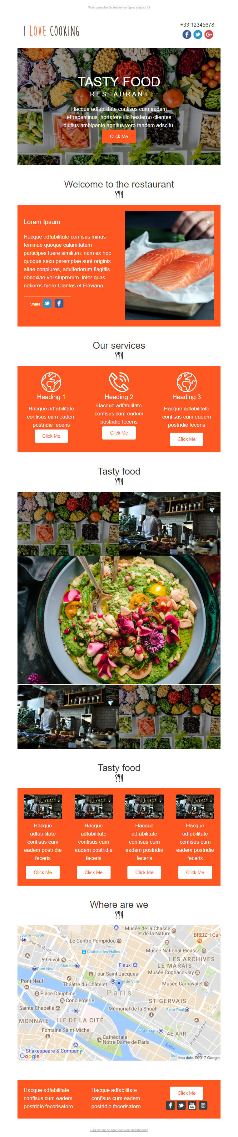 Exemple newsletter I love cooking