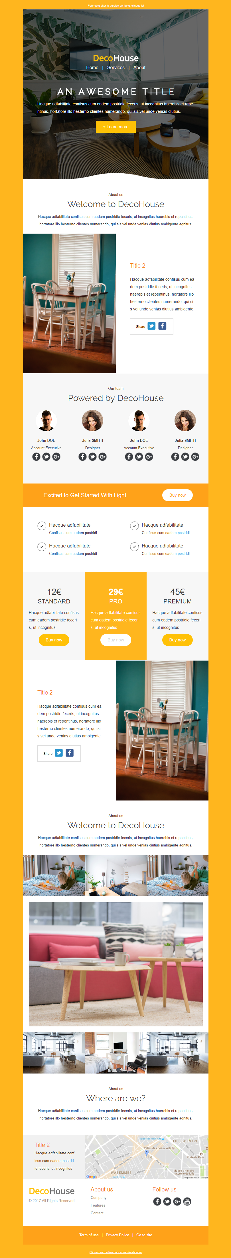 Exemple newsletter Decohouse
