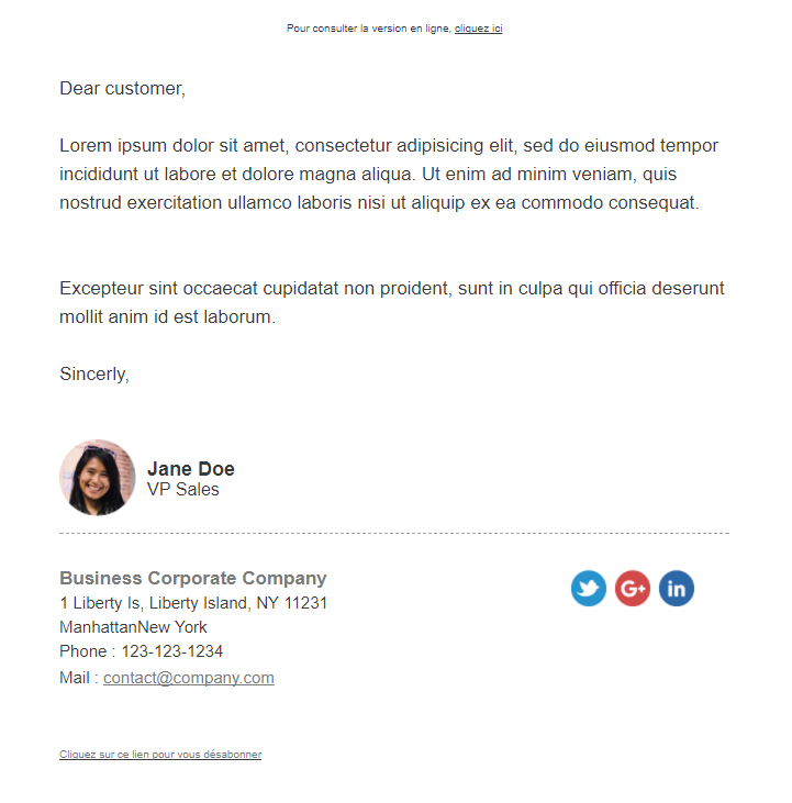 Templates Emailing A-letter Sarbacane