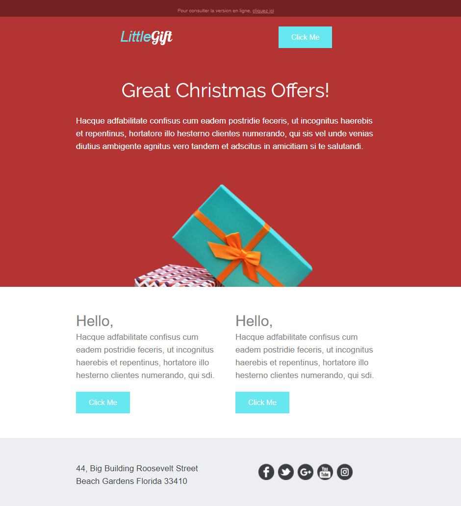 exemple email e-commerce noel