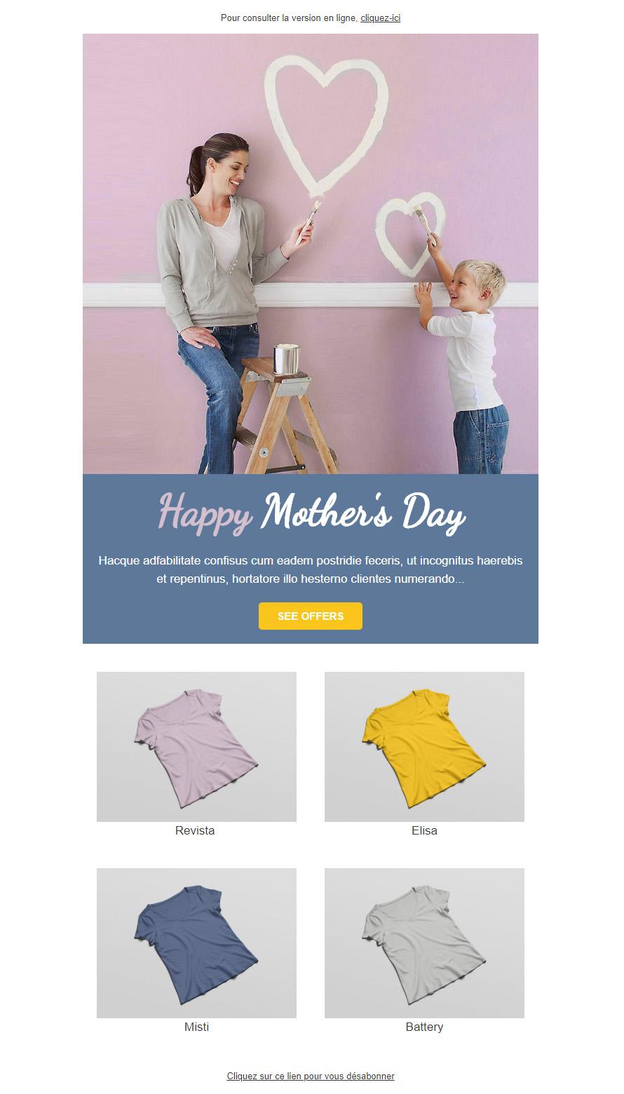 Templates Emailing Happy Mom Sarbacane