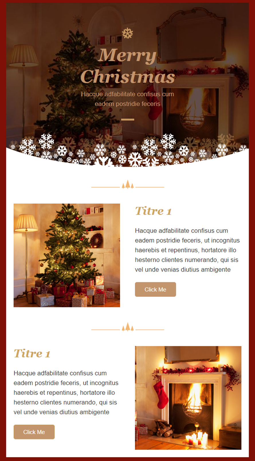 Exemple newsletter Noël
