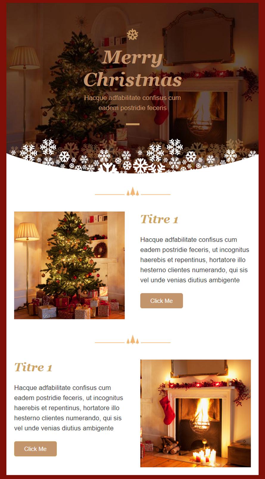 Templates Emailing Christmas2 Sarbacane
