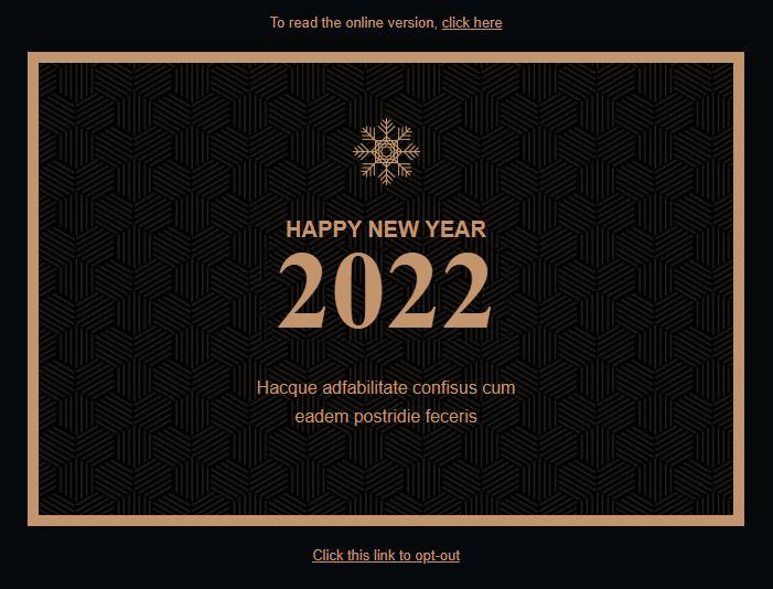 idée mailing nouvel an 2020