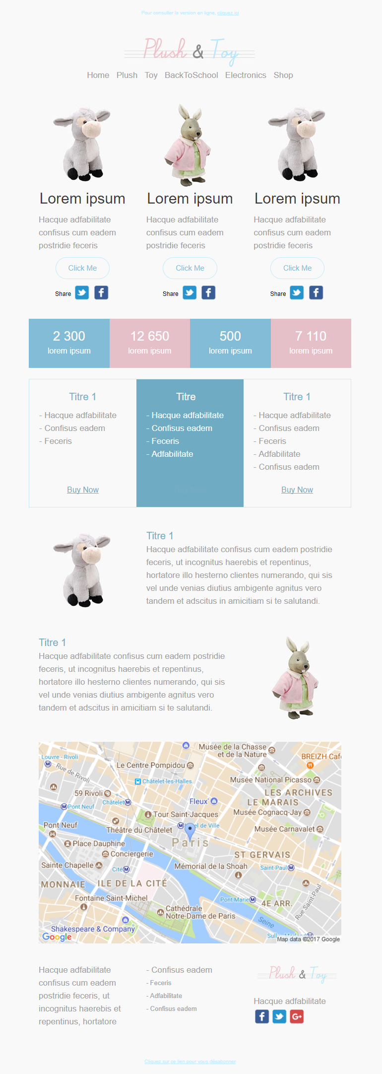 Templates Emailing Plush and Toy Sarbacane