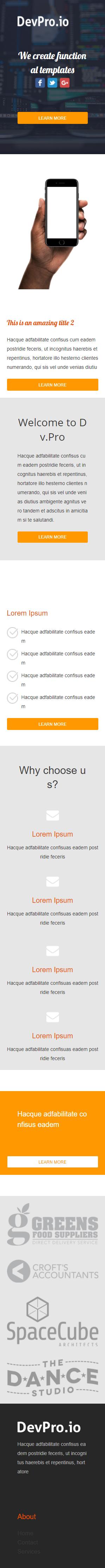 Templates Emailing Devpro Sarbacane