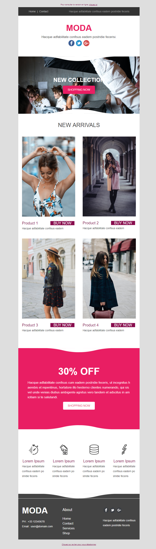Templates Emailing Moda Sarbacane