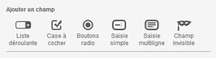 Screen Sarbacane - Editeur formulaire Ajout champ